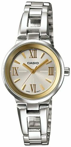 Casio Women's LTP1340D-7A Silver Stainless-Steel Quartz Watch with Silver Dial Casio. $39.95. Quartz Movement. 25mm Case Diameter. 50 Meters / 165 Feet / 5 ATM Water Resistant. Mineral Crystal. Save 20% Off!