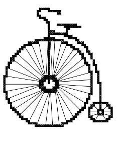 Bicycle Counted Cross Stitch Pattern PDF. $3.00, via Etsy.