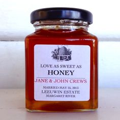Love as Sweet as Honey - Personalised Label Wedding / Anniversary Bonbonniere - hardtofind.