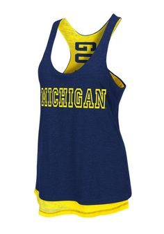 Michigan Wolverines Womens Tank Top http://www.rallyhouse.com/shop/michigan-wolverines-womens-tank-top-navy-blue-michigan-duo-sleeveless-shirt-15033066?utm_source=pinterest&utm_medium=social&utm_campaign=Pinterest-MichWolverines $34.99