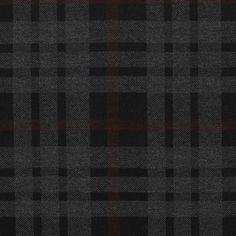 Tissu maille carreaux noir, gris et bordeaux - Soldes Mondial Tissus
