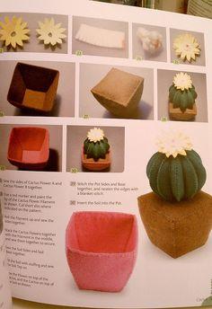 A felt cactus, love it! by kitkabbit, via Flickr