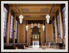 Interior of Union Station Omaha Nebraska (1st U.S. Train Station in Art Deco)