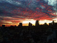 Landscape.#sunset #city #clouds #cloudy #orange #skyline #buenosaires #photography #recoleta #instagram #blue #sunlight #buildings #urban #inspo #goals #beautiful