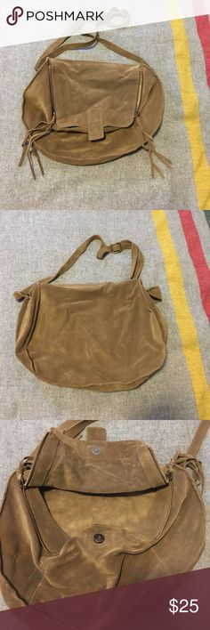 Suede Crossbody Bag Made in Spain, this leather cross body bag is perfect for summer! Pictures do NOT do this bag justice! This bag is in great, pre loved condition and has no stains or rips or holes. Priced to sell! Bags Crossbody Bags