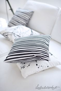 black white modern pillows