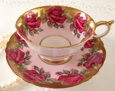 RESERVED/Sold order 3 Stunning Rose Paragon China Tea Cup & Saucer