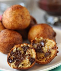 Well this is right up the guys alley....Deep Fried Chocolate Chip Cookie Dough
