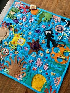 Navy Nursery, Activity Mat, Ocean Crafts, Baby Feet, Infant Activities, Fine Motor Skills, Kids Rugs, Sewing, Book