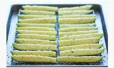 Baked Parmesan Zucchini Recipe Crisp, tender zucchini sticks oven-roasted to absolute perfection. It's healthy, nutritious and completely addictive! Zucchini and parmesan cheese.
