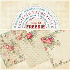 Blog -Single Post ~ Free vintage paper. Beautiful! Links to other free papers too.