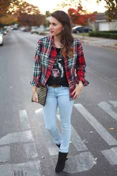 A little rocker chic wardrobe with perfect ombre tips – LOVE IT!