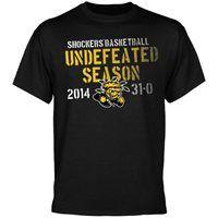 Wichita State Shockers 2014 Undefeated Season T-Shirt - Black