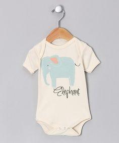 'Elephant' Organic Bodysuit