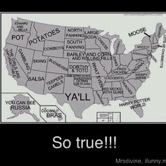 i love how there's just NOTHING in ohio. sounds about right.  Also, Florida would be Harry potter world.