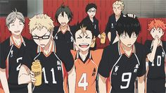 The Team | Haikyuu!! | Anime | (gif)