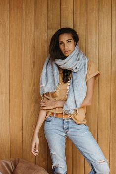 Shawl / Scarf — PLACE of KIND Morning Yoga, Yoga Session, Scarf Wrap, Bell Bottom Jeans, Organic Cotton, Hand Weaving, Shawl, Cashmere, Winter