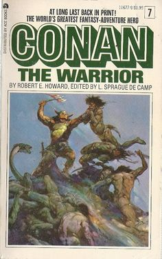 Conan The Warrior Frank Frazetta, Fantasy Book Covers, Fantasy Books, Classic Literature, Classic Books, Science Fiction Art, Pulp Fiction, Conan Comics, War Comics