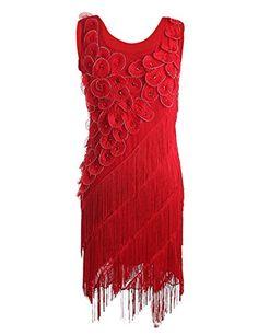 Image result for scallop fringe flapper dress