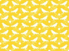 Birds in Yellow  Digital Paper  DIY Projects  by blossompaperart, $1.30