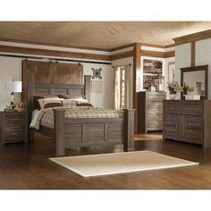 Fairfax Driftwood Rustic Modern 6-Piece King Bedroom Set