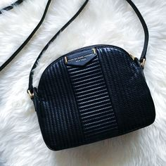 black leather moto crossbody bag // marc by marc jacobs