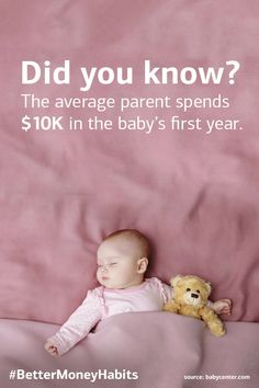 Life is pretty good at throwing curveballs. And thinking about the cost of having a child can be daunting, so here are some ways to help you be more financially prepared before the little bundle arrives. #BetterMoneyHabits