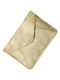 gold leather envelope clutch / gap http://findanswerhere.com/handbags