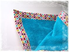 Quick Quilt Gift Idea--add extra wide binding to a purchased fleece-like blanket for a quick gift