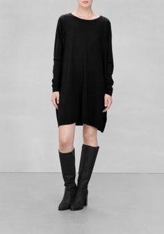 & OTHER STORIES A relaxed-fit dress made from warm and comfy wool.