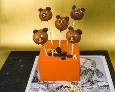 Bären-Cakepops: Wie süß, Kuchenlollis in Bärenform! Die köstlichen Köpfchen treffen sicher voll euren Geschmack...