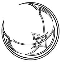 """crescent moon tattoo-I want this with """"I see the moon and the moon sees me"""" on my side"""