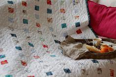 Patchwork & Quilts – Narzuta patchwork nowoczesny CUBE/mini – a unique product by dom-artystyczny on DaWanda