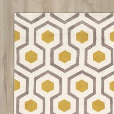 found it at wayfair francine creamyellow area rug