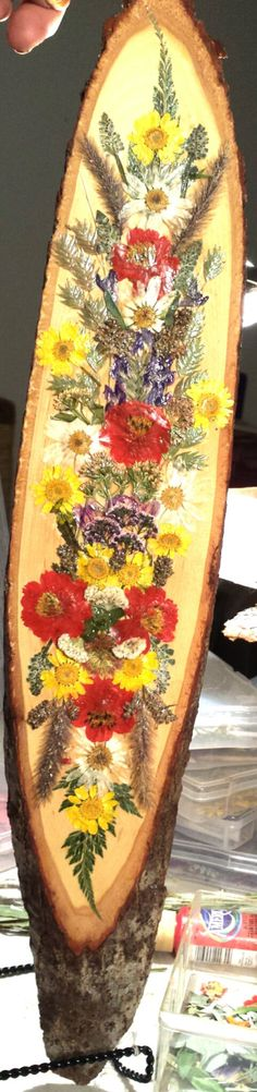 Real Pressed Flower Collage on Lightweight by FlowerFelicity, $68.00