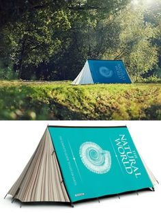 Book Tent      Curl up with a good book and enjoy the ... outdoors with this cleverly printed Fully Booked tent by Jack Maxwell