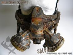Post Apocalypse gas mask for LARP & Airsoft. SALVAGED Ware by Mark Cordory Creations - enquiries always welcome www.markcordory.com