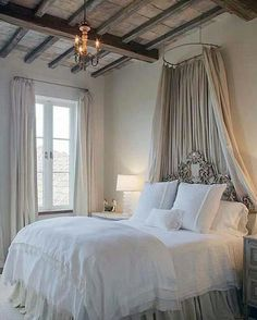 "100 Likes, 1 Comments - Natasha Kalita Design (@natashakalitadesign) on Instagram: ""I have always been attracted to bed canopies, and this french country bedroom is a win. Via…"""
