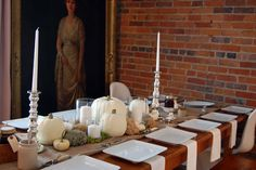 simple white thanksgiving tablescape