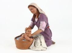 La hora del baño Montserrat, Style, Fashion, Christmas Scene Setters, Human Figures, Births, Infancy, Dioramas, Group