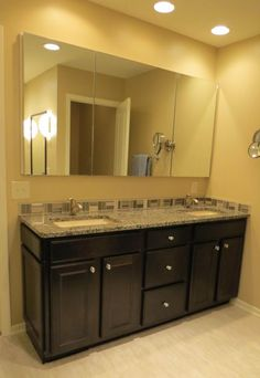Master Bathroom vanity by Reese Construction, Inc  Lincoln, NE