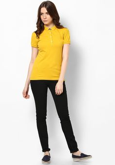 c9263eea2 Buy Tommy Hilfiger Sundown Yellow Short Slleeve Polo T Shirt Online -  2855168 - Jabong