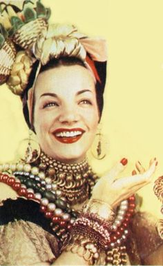 Carmen Miranda in Joseff Hollywood jewelry