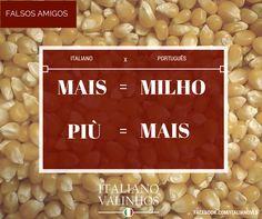 Mais e Milho, falsos amigos do italiano português