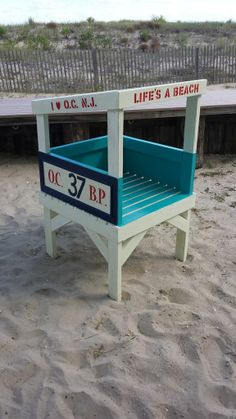 Kid sized life guard stand #woodworking #children #play #fort #beach #summer