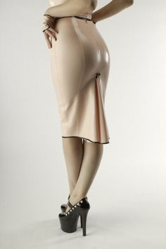 Love it...want it... Need it...  Latex Kickpleat Pencil Skirt by…