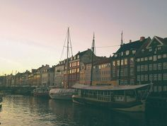Here is a sunset in Nyhavn. Two months living in Copenhagen and only now I post my first picture. I've been really lazy trying to capture this beautiful city. Paris Skyline, New York Skyline, Denmark Europe, Copenhagen, One Pic, Travel Photos, Lazy, Travelling, Wanderlust