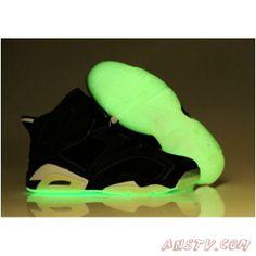 2014 New Air Jordan Femme Nike Air Jordan 6 Femmes Luminous Noir Chaussures  Chaussure Basket Nike 794eb5d97f23