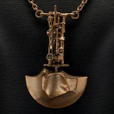 "Björn Weckström for Lapponia Jewelry ~""General Motors"" Flame Bronze #necklace, 1973"
