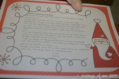 Letter from Santa about elf